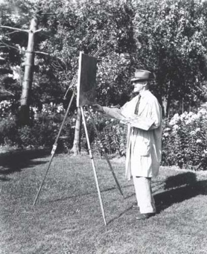 Louis Paul Dessar at work outdoors, 1940 - Smithsonian American Art Museum, Peter A. Juley & Son Collection