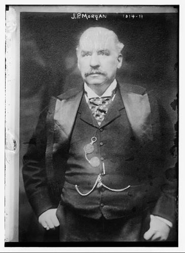 J. P. Morgan, ca. 1900, glass negative - Library of Congress, Prints and Photographs Division, George Grantham Bain Collection