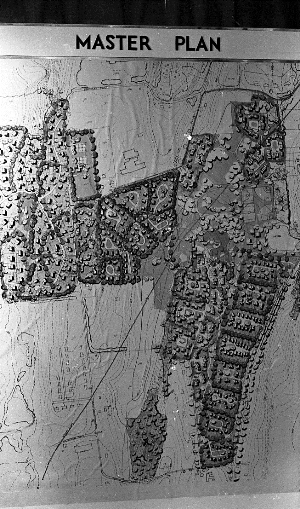 Photograph of the Wesleyan Hills Housing Development Master Plan, Wesleyan Argus ca. 1968-70 - Courtesy of Charles Spurgeon