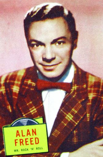 "1957 Topps trading card image of Alan Freed - ""Mr. Rock 'N"" Roll."
