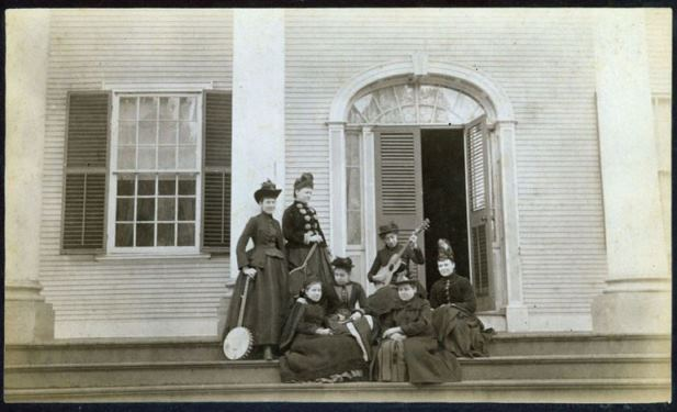 Students at the Griswold Home School, ca. 1885 - Florence Griswold Museum, Lyme Historical Society Archive