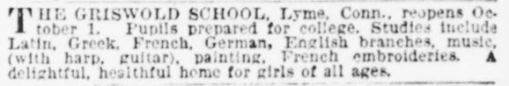 Classified ad from the New-York Tribune, September 8, 1888 - Library of Congress, Chronicling America, Historic American Newspapers