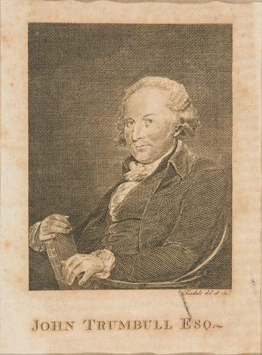 Elkanah Tisdale, John Trumbull Esq., 1801, line engraving - Yale University Art Gallery