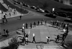 April 26, 1968, Community Strike, University of Connecticut students demonstrate against the Vietnam War - University of Connecticut Libraries, Thomas J. Dodd Research Center and Connecticut History Online