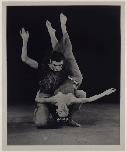 Pearl Lang and Robert Cohan in Diversion of Angels, a ballet which premiered on August 13, 1948, at Connecticut College, New London, choreographed by Martha Graham - Library of Congress, Music Division