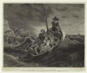 English Puritans escaping to America. - New York Public Library Digital Collections, Art and Picture Collection