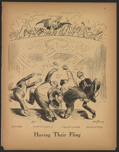 """Art Young, """"Having Their Fling,"""" September 1917, The Masses - Researching Greenwich Village History"""