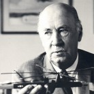 Detail from a photograph of Igor Sikorsky, inventor of the practical helicopter - Smithsonian National Air and Space Museum