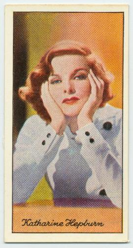Katharine Hepburn cigarette card - The New York Public Library Digital Collections, George Arents Collection