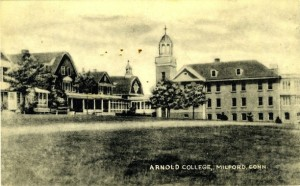 Postcard depicting Arnold College, Milford, Connecticut