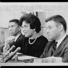 Mrs. Constance Motley at a news conference with Medgar Evers and Jack Greenberg, September 28, 1962, New Orleans, Louisiana - Library of Congress, Prints and Photographs Division, New York World-Telegram and the Sun Newspaper Photograph Collection