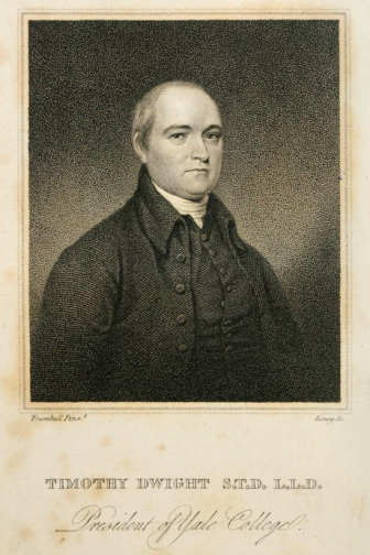 Portrait of Timothy Dwight in Theology Explained and Defended in a Series of Sermons by Timothy Dwight, 1818