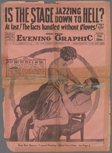 The cover of the New York Evening Graphic, December, 1926 - New York Public Library Digital Collections, Billy Rose Theatre Division