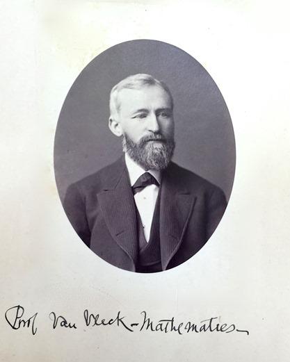 John Monroe Van Vleck, American mathematician and astronomer, ca. 1875.