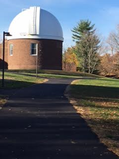 The Van Vleck Dome on Foss Hill. Photo by Rachele Merliss, October 2015