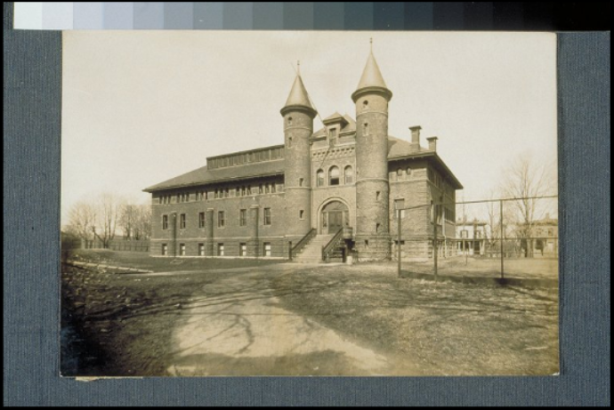 Fayweather gymnasium ca. 1910, Wesleyan University, Middletown, Connecticut - Connecticut Historical Society