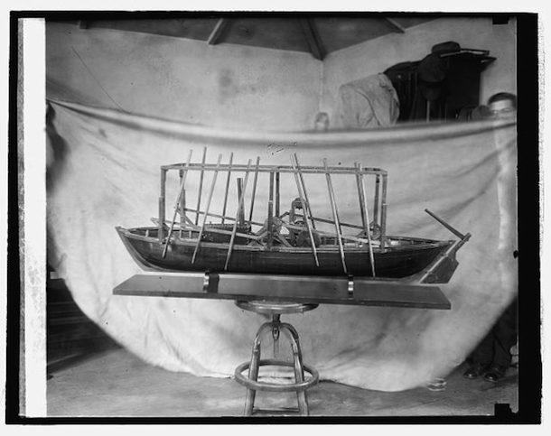 John Fitch's steamboat model