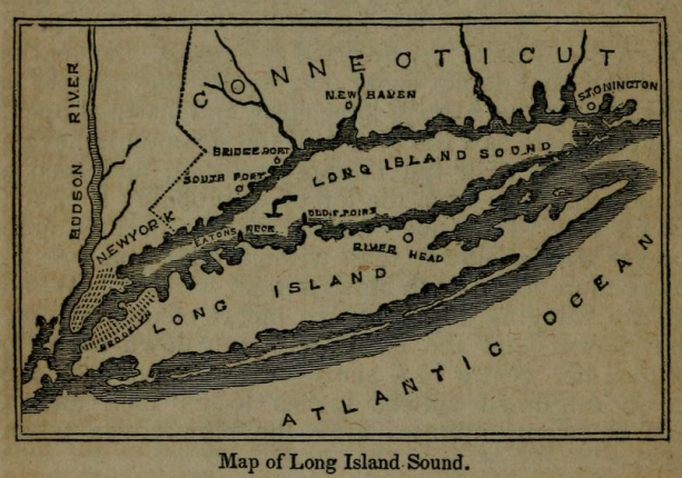An Ilration Map Of Long Island Sound Depicting The Location Of The