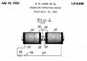 Detail from Edwin H. Land's patent for Polarizing Refracting Bodies, filed April 26, 1929