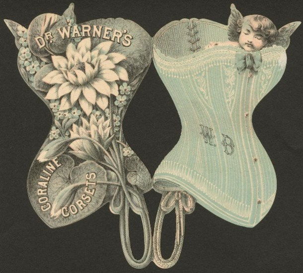 Advertising card of the Dr. Warner's Caroline Corset
