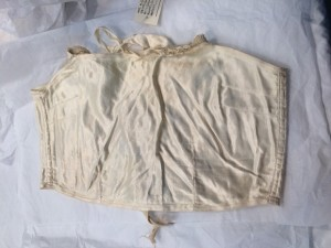 Cream silk brassiere lined with cotton, ca. 1925