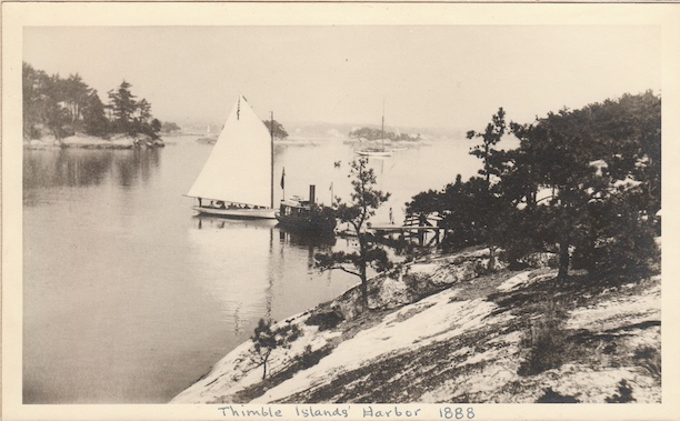 Photograph of Thimble Island's Harbor, 1888, Stony Creek, CT - Branford Historical Society