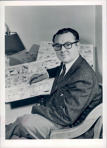 Publicity photo of the cartoonist Walt Kelly, ca. 1957.