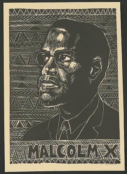 Romero, Rachael, Designer, and Wilfred Owen Brigade. Malcolm X, poster, 1976 - Library of Congress, Prints and Photographs Division