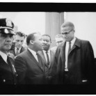 Martin Luther King and Malcolm X waiting for press conference, March 26, 1964. Photographer Marion S. Trikosko - Library of Congress, Prints and Photographs Division