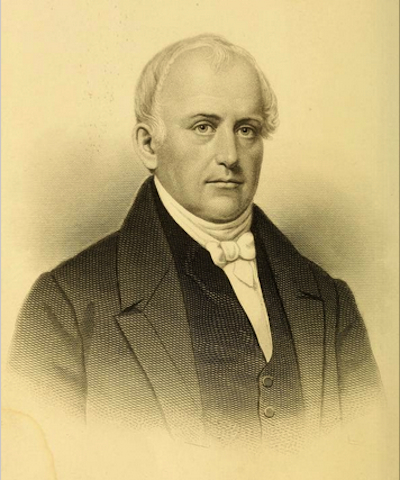 Portrait of Samuel Slater from the book Samuel Slater and the Early Development of the Cotton Manufacture in the United States by William Bagnall, 1890.