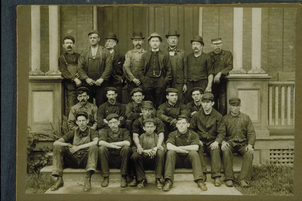 Wethersfield Avenue day crew, Hartford Street Railway Co., 1907 - Connecticut Historical Society