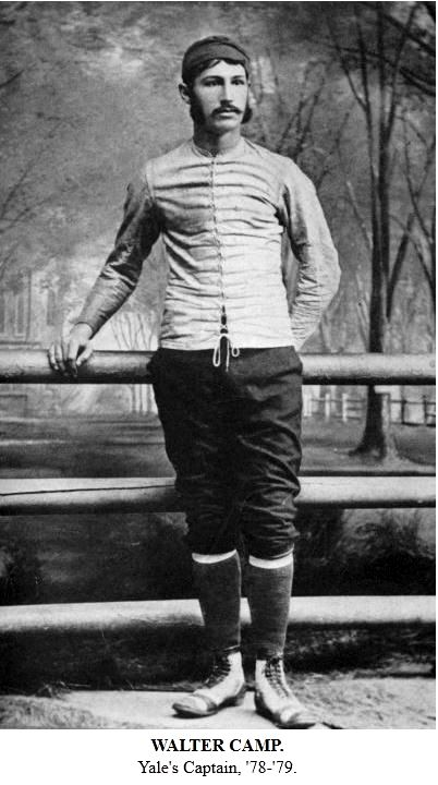 Walter Camp as Yale's Team Captain from the book Football Days Memories of the Game and of the Men Behind the Ball by William H. Edwards, 1916
