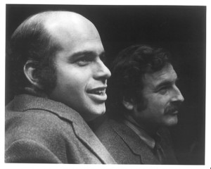 Arvin Brown, Artistic Director (L) and M. Edgar Rosenblum, Executive Director of the Long Wharf Theatre, ca. 1970s - Courtesy of Long Wharf Theatre