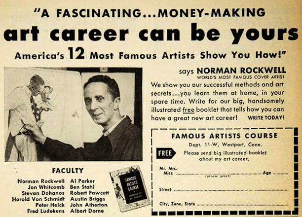 Famous Artists Course advertisement