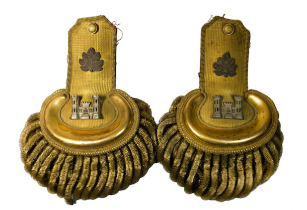 General Mansfield's uniform epaulets