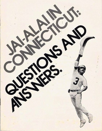 Jai-Alai in Connecticut booklet