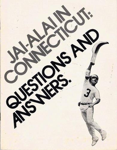 Jai-Alai in Connecticut booklet