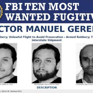 FBI Ten Most Wanted Fugitive poster of Victor Manuel Gerena