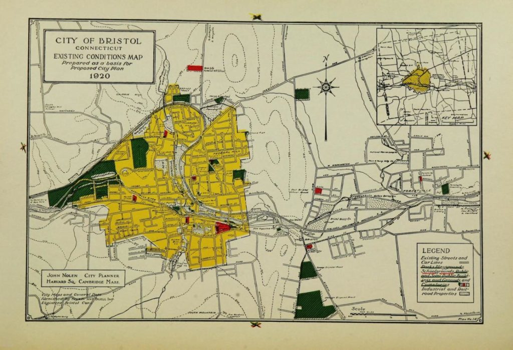 Map City of Bristol, Proposed City Plan 1920