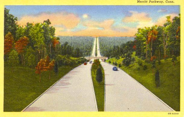 Postcard of the Merritt Parway, Conn.