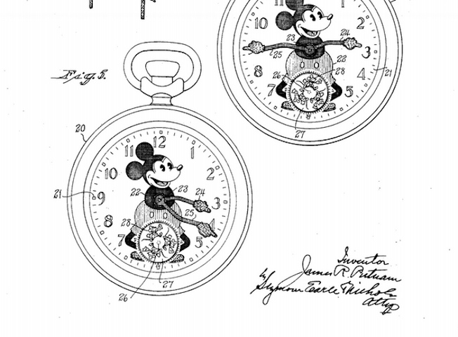 Mickey Mouse Watch Patent