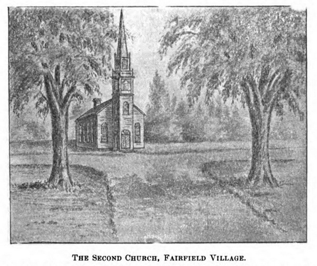 Illustration of the Second Church, Fairfield Village