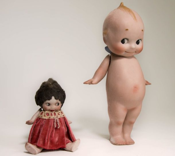 An example of two different Kewpie dolls