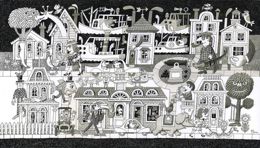 Rowayton Creature Tableau by Jim Flora