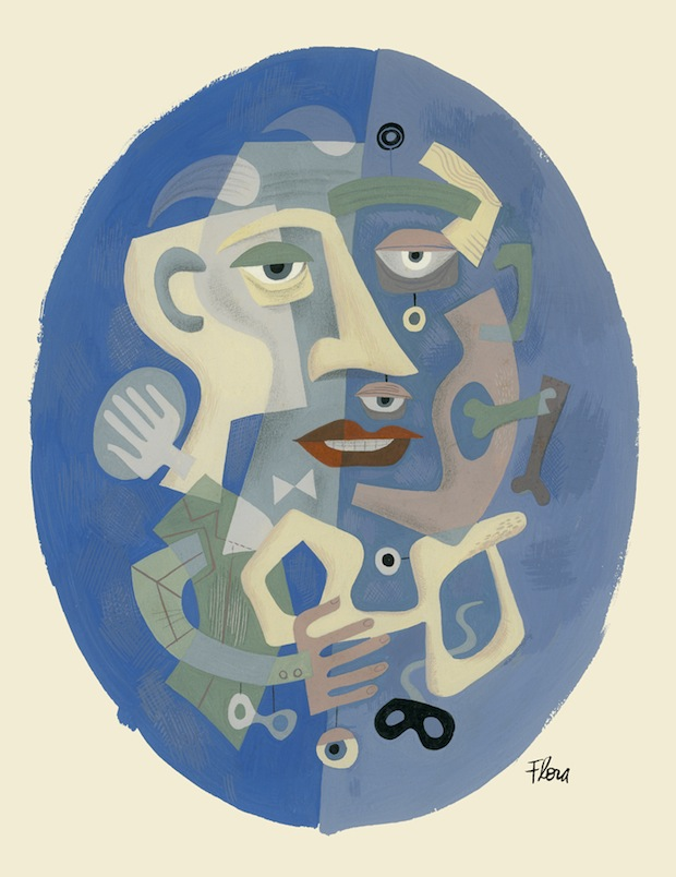 Portrait in Blue by Jim Flora