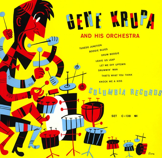Gene Krupa and His Orchestra by Jim Flora
