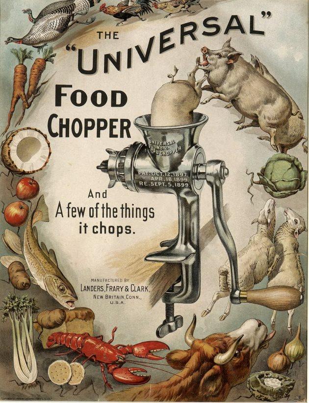 Universal food chopper, Landers, Frary & Clark, circa 1899