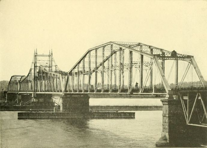 Photograph of the Railroad Bridge over the Thames, New London