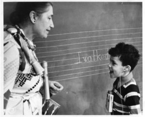 Teacher and student, American School for the Deaf