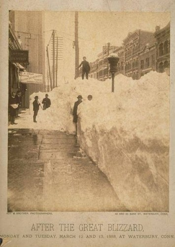 Waterbury, Bank Street. After the Great Blizzard